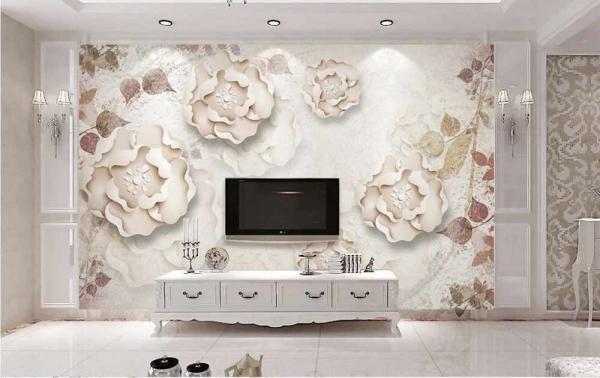 پوستر دیواری گل برگ های زیبا
