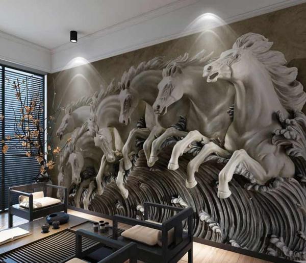 پوستر دیواری طرح اسب های وحشی