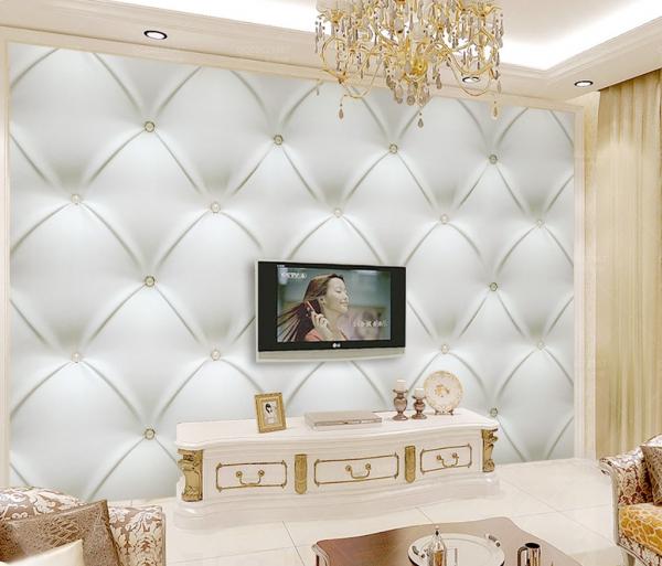 کاغذ دیواری سه بعدی طرح لوزی ساده