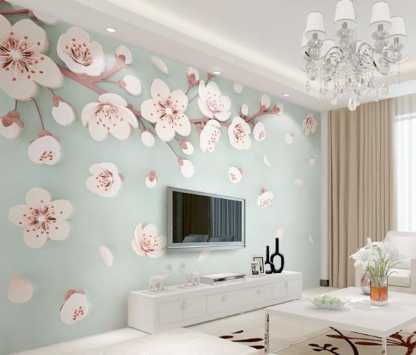 پوستر دیواری شکوفه های بهاری