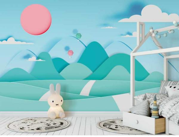 پوستر دیواری سه بعدی طرح کودکانه