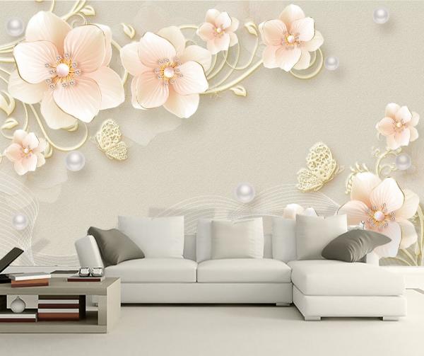 پوستر دیواری شاخه گل های بزرگ