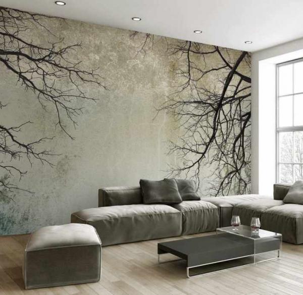 پوستر دیواری هنری از درختان خشک