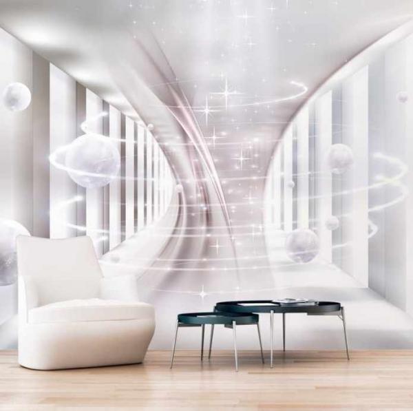 پوستر دیواری طرحی سه بعدی گوی های معلق