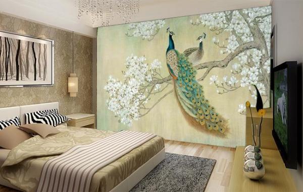 پوستر دیواری خودنمایی طاووس برای جفت خود