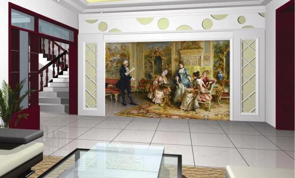 تابلو فرش نقاشی اجرا برای مهمانان