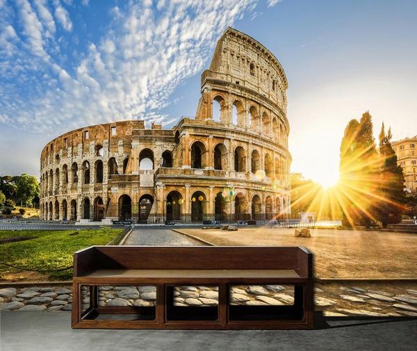 طرحی از طاق کنستانتین نمادی از روم