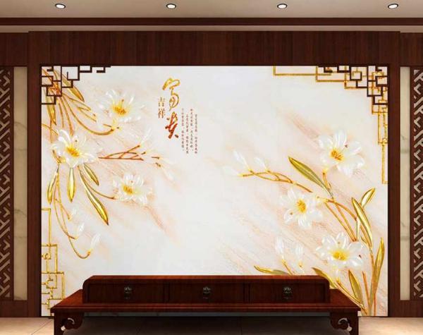 پوستر دیواری گل های سفید
