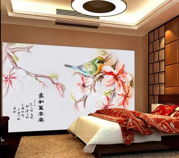پوستر دیواری پرنده نقاشی شده