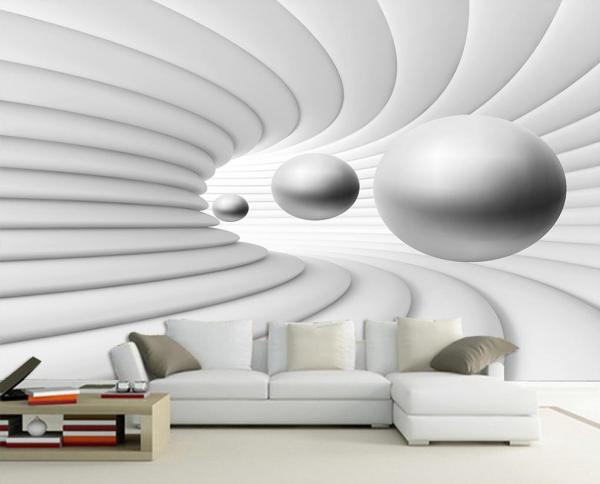 پوستر دیواری طرح سه بعدی گوی معلق