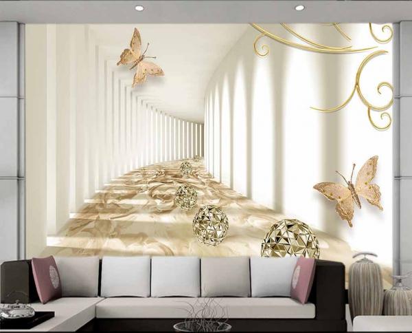 پوستر دیواری طرح تونل سه بعدی
