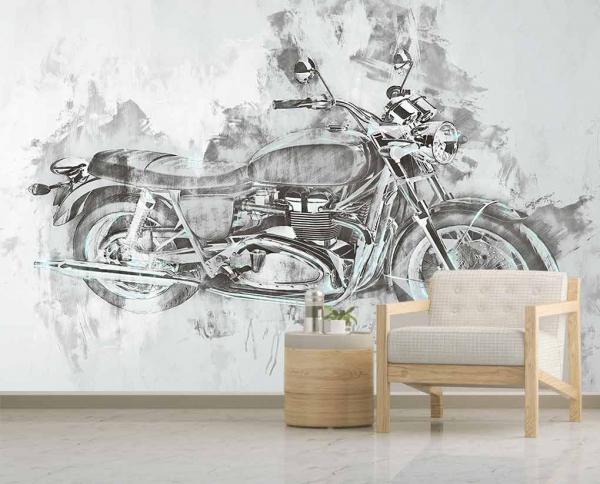 پوستر دیواری نقاشی هنری موتور