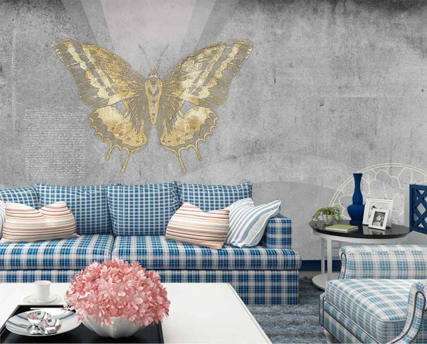 پوستر دیواری طرح پروانه طلایی