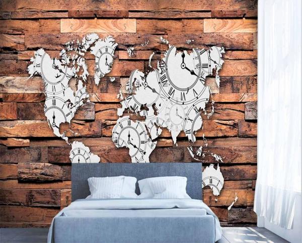 پوستر دیواری طرح نقشه ایران و جهان