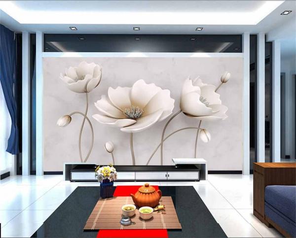 پوستر دیواری شاخه گل های سه بعدی