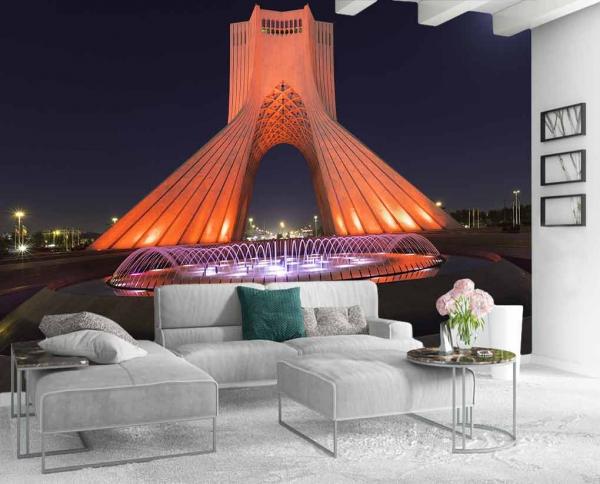 پوستردیواری طرح برج ازادی ایران