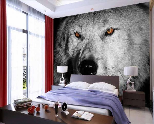 پوستر دیواری طرح اسپرت از نمای نزدیک گرگ