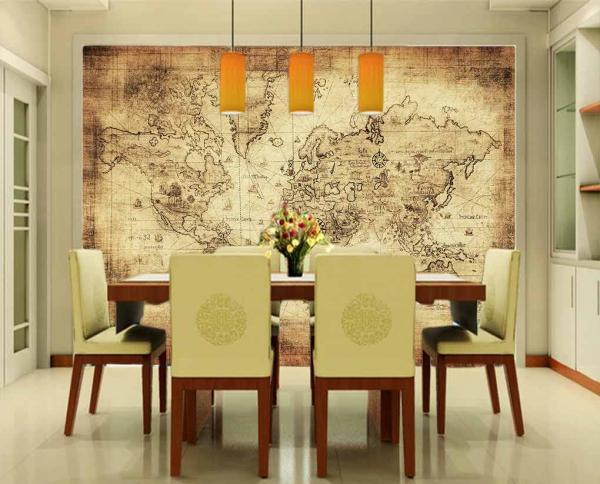 پوستر دیواری طرح نقشه کل جهان
