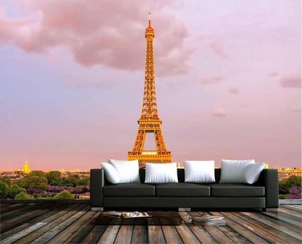 پوستردیواری برج ایفل با هوای رویایی