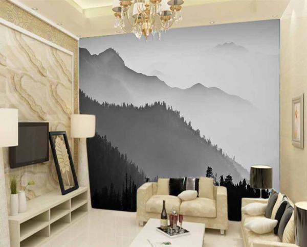 پوستر دیواری طرح طبیعت سیاه و سفید