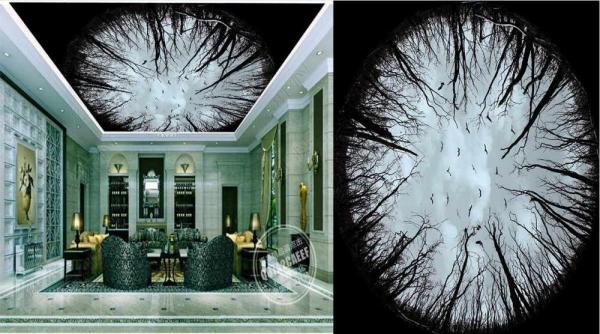 پوستر سقفی درختان زیبا