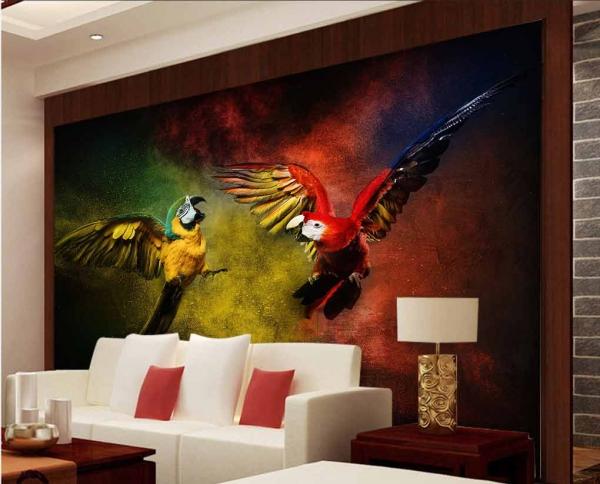 پوستر دیواری طرح پرنده های زیبا