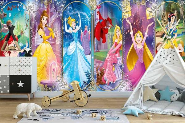 پوستر دیواری پرنسس های والت دیزنی