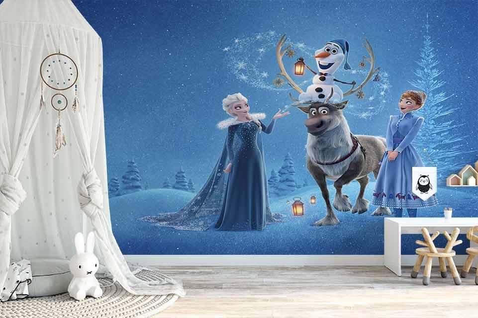 پوستر دیواری طرح زمستانی السا و انا