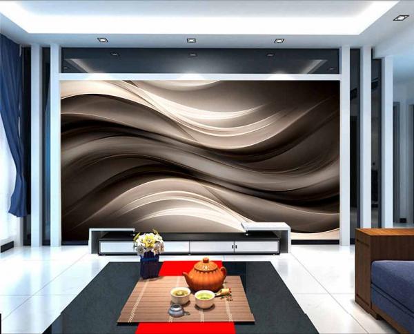کاغذ دیواری سه بعدی سیاه و سفید