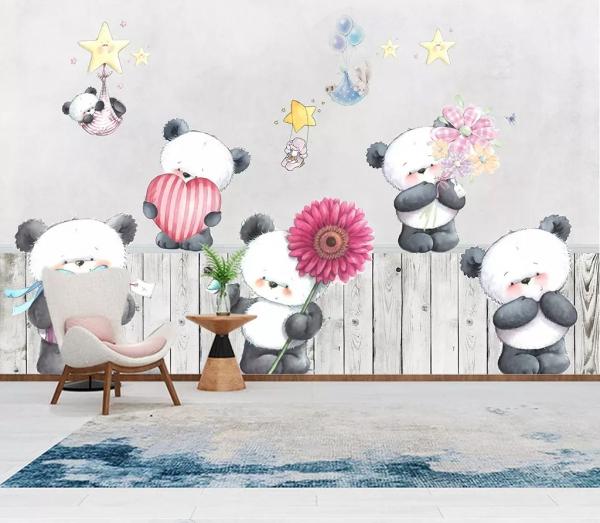 پوستر دیواری طرح خرس های کوچولو