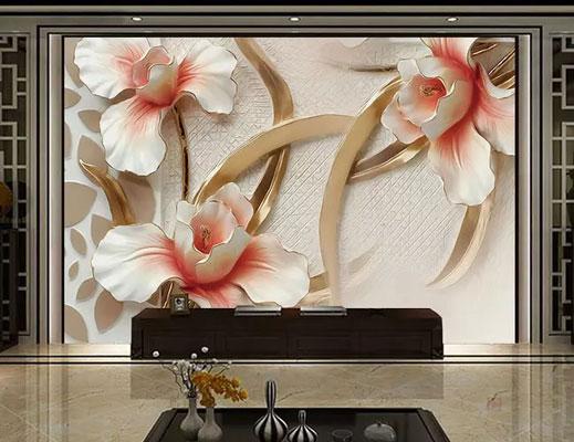 پوستر دیواری گل برجسته سه بعدی