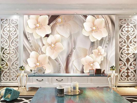پوستر دیواری گل شاخه ای زیبا