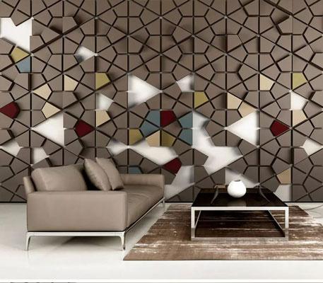 پوستر دیواری طرح سه بعدی مثلث های کوچک
