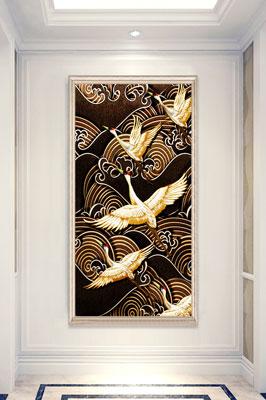 پوستر دیواری پرنده های طلایی