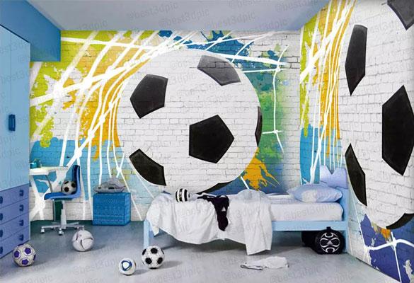پوستر دیواری کودکانه توپ فوتبال