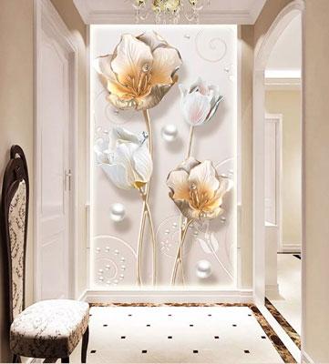 پوستر دیواری ایستاده گل طلایی