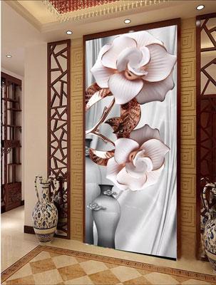 پوستر دیواری ایستاده گل های برجسته